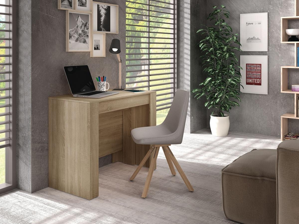 Mesa de comedor extensible consola, mueble auxiliar para salón blanca
