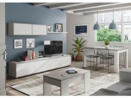 Apilable de salón blanco y cemento