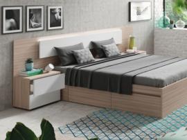 Dormitorio en tonos roble