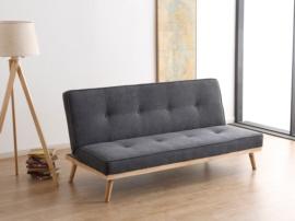 Sofá cama color gris con patas antivuelco