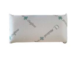 Almohada de cama con viscoelástica y particulas de grafeno.