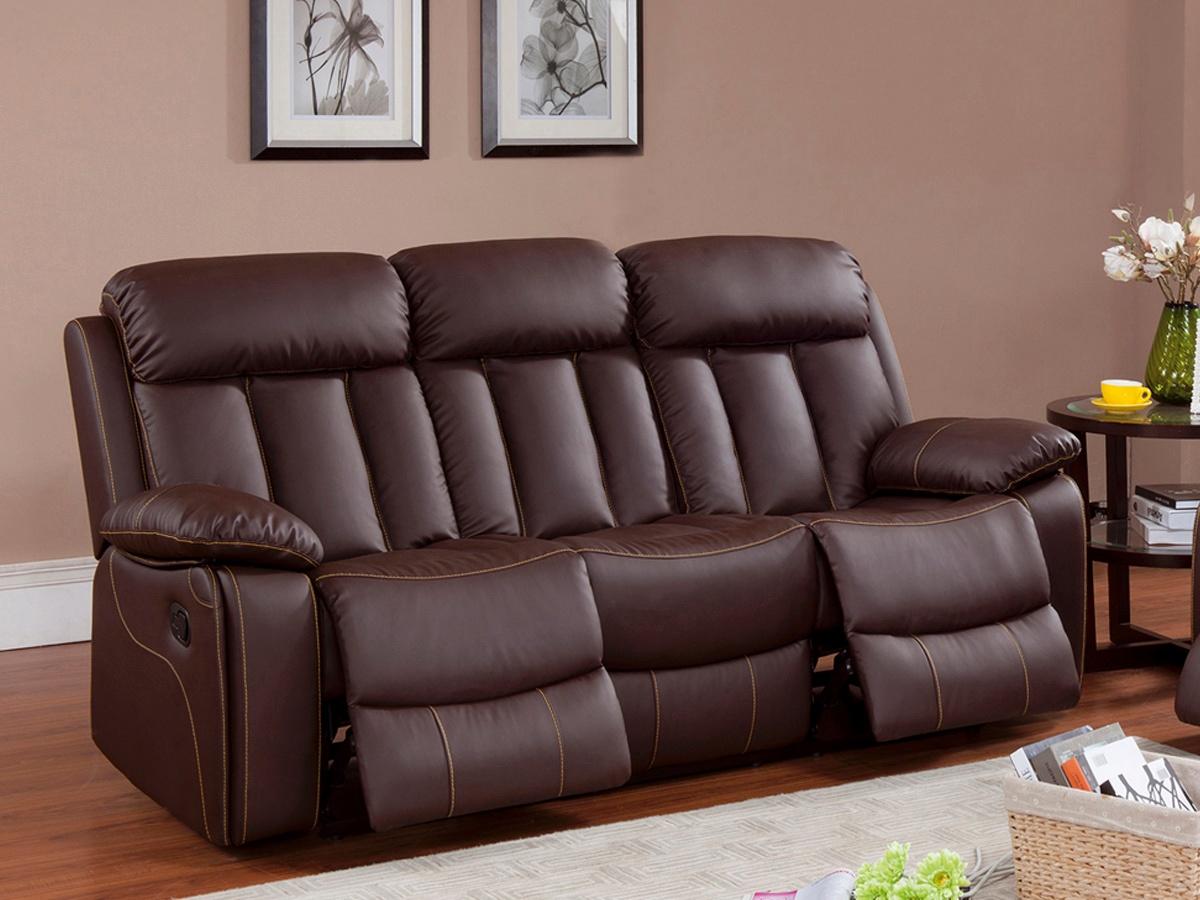 Sofá de cuero blanco relax, precio sofá de diseño 2 y 3 plazas