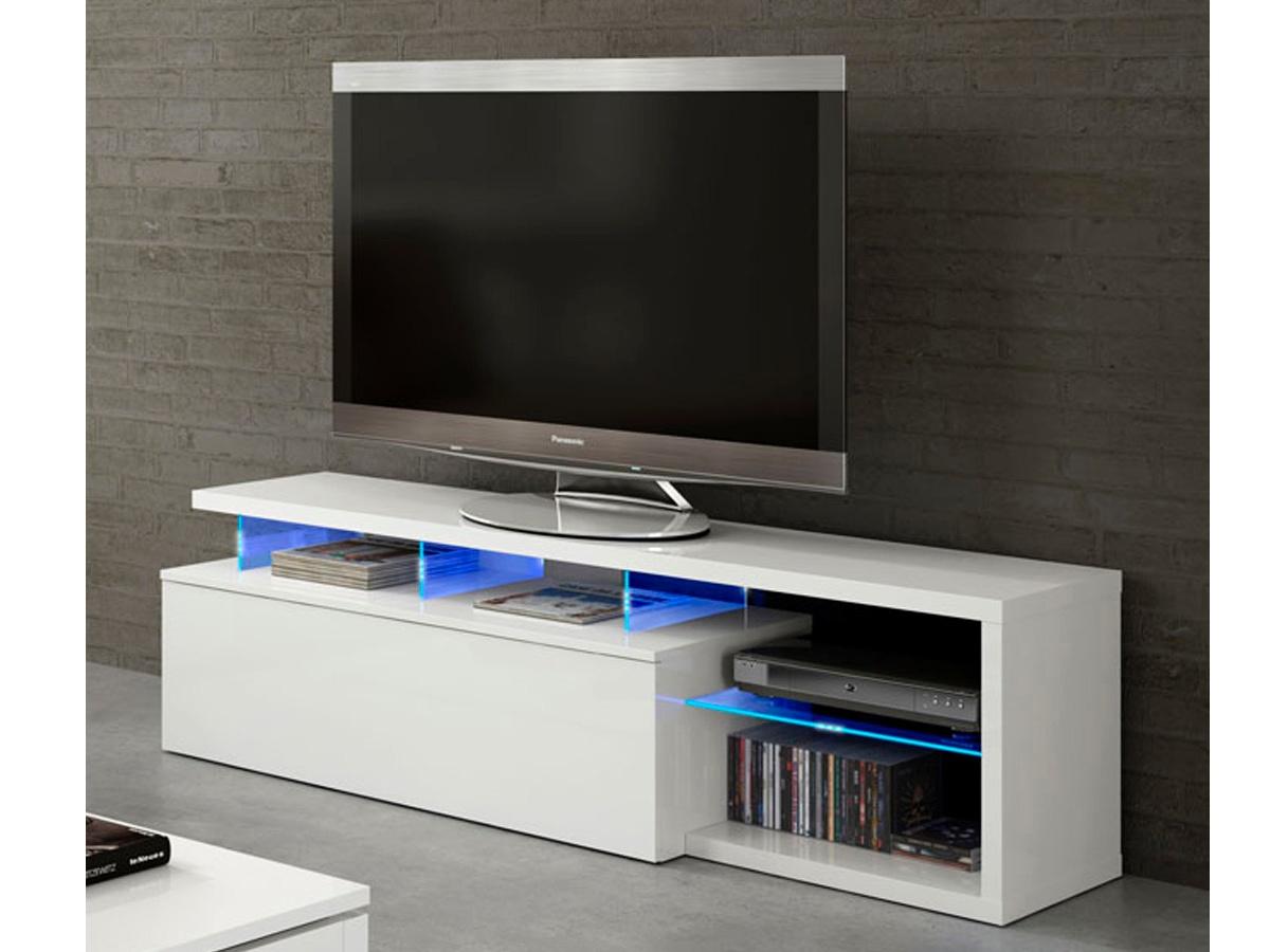 Mesa de tv para sal n blanca mueble mesa de comedor con for Mesas de televisor modernas