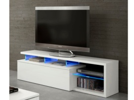 Mesa TV color blanco