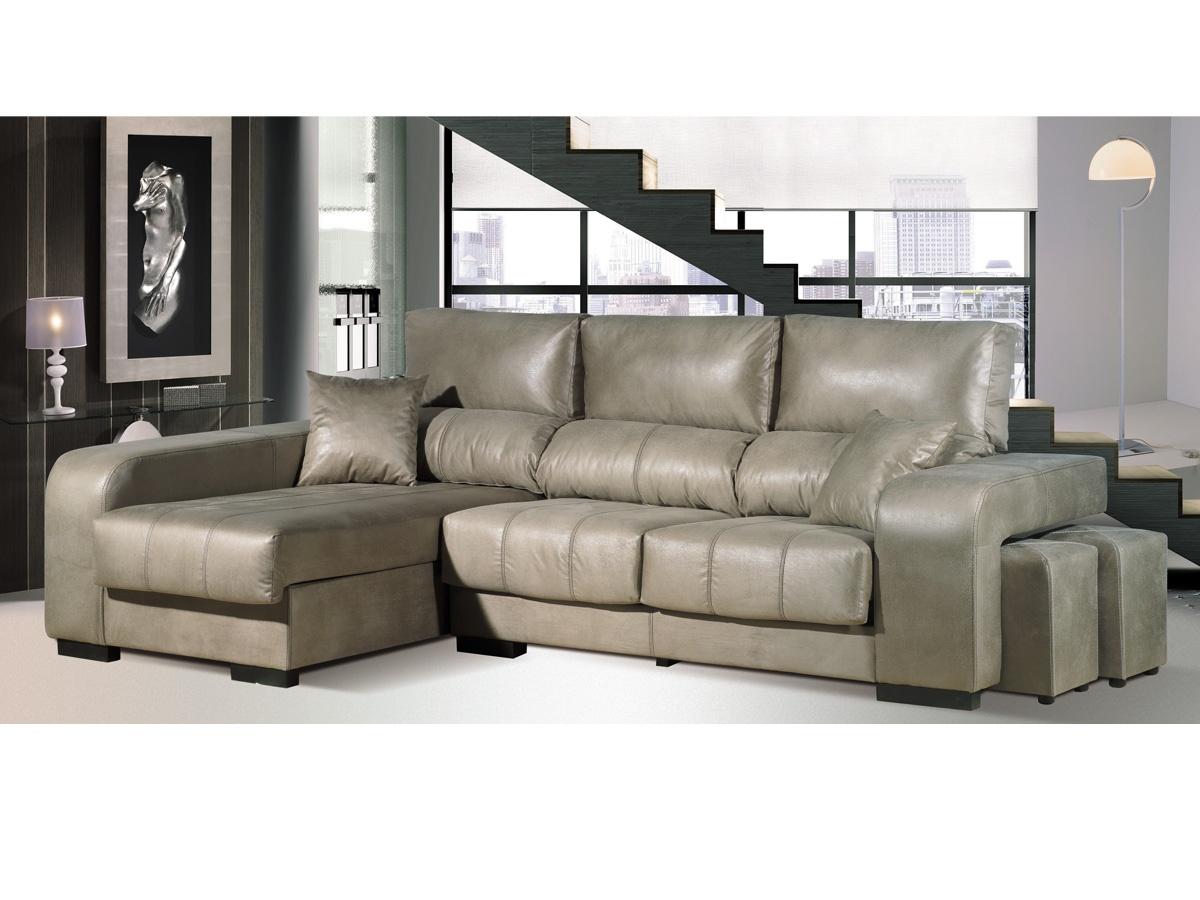 sofa chaise longue pouffs