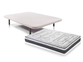Pack colchón viscoelástica y base tapizada