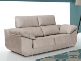 Sofá con laterales curvos