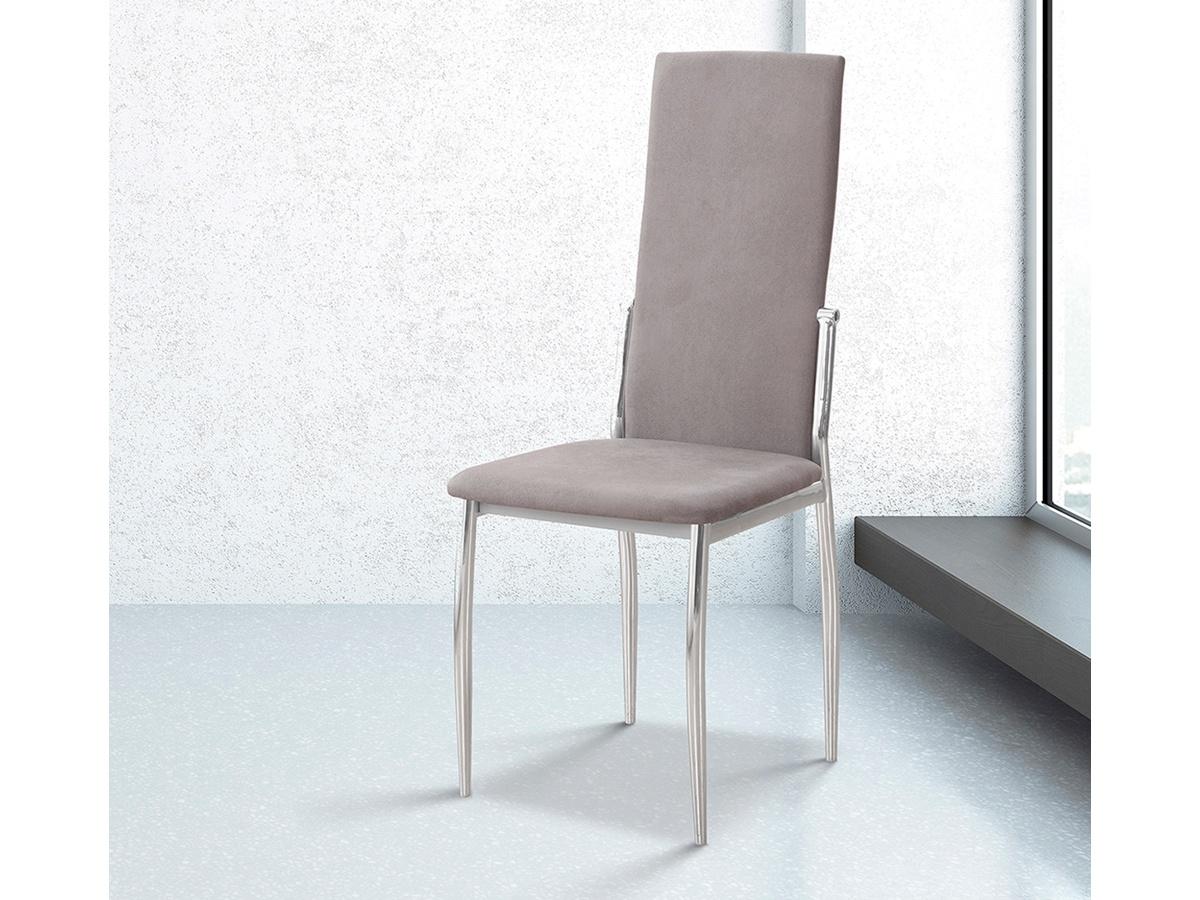 Silla de comedor piel beige, oferta de silla salón tapizado beige