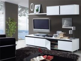 Apilable de salón blanco coordinado negro