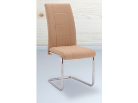 Conjunto de mesa para comedor y sillas tapizadas con patas cromadas
