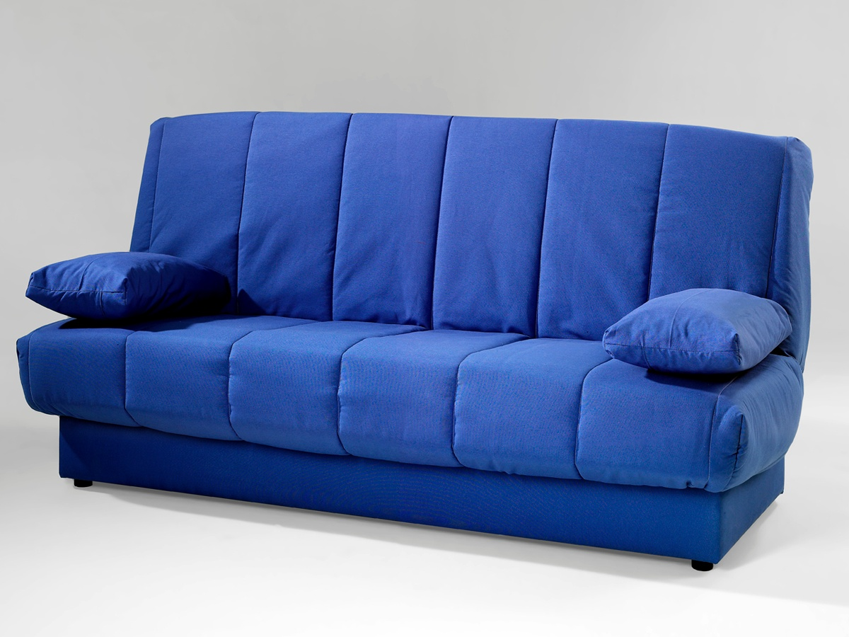 Sof cama reclinable con arc n oferta sof con caj n y for Colchon para sofa cama plegable