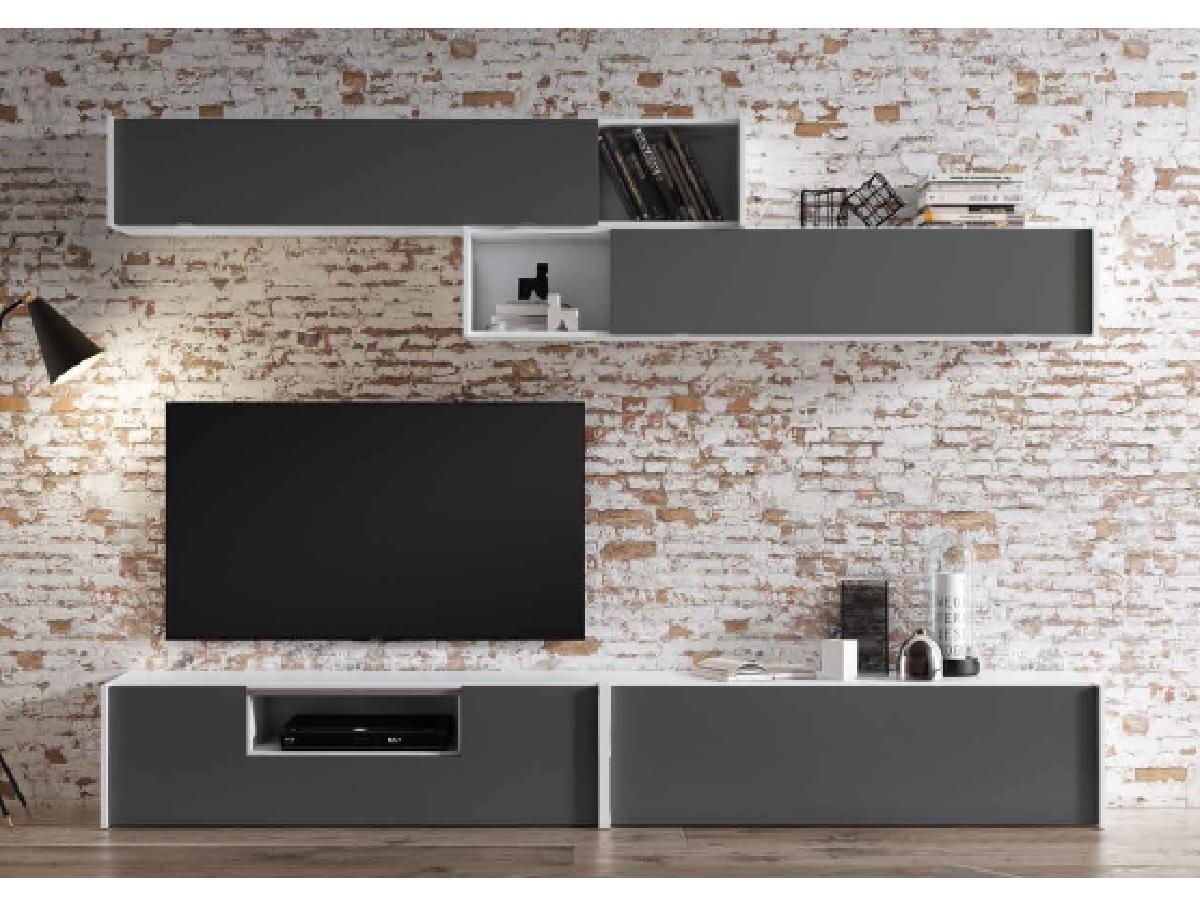 Mueble de salón para tv y con vitrinas