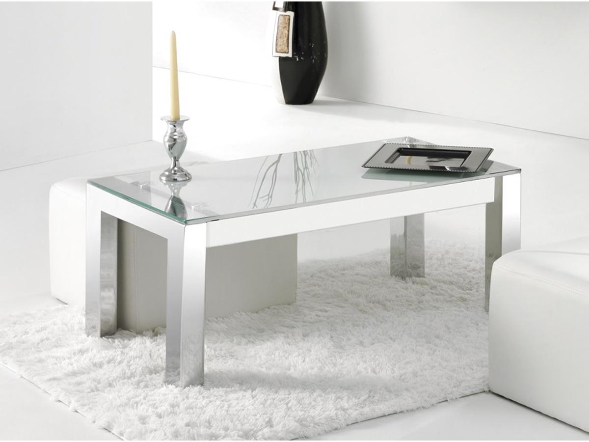 Mesa de centro elevable de cristal templado - Mesas cristal templado ...