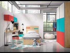 Dormitorio juvenil con canapé