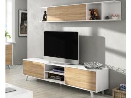 Mueble de Tv con vitrina