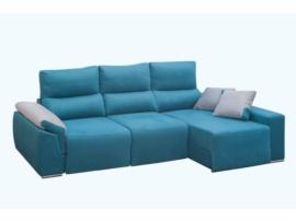Chaisselongue con canapé y asientos extraibles.