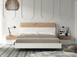 Dormitorio de matrimonio con detalles en Roble