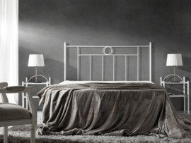 Cabezal cama forja atenea cabecero dormitorio hierro - Cabezal forja blanco ...