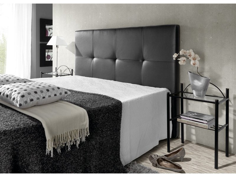 Cabecero cama en polipiel cabezal tapizado para tu dormitorio for Lamparas cabezal cama