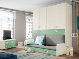 cama abatible con armario juvenil