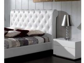 Cabecero cama forja de hierro mueble forja pintado en negro - Cabezal cama polipiel ...