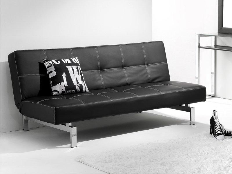 Sof cama libro sof de apertura tipo libro en piel sint tica - Tipos de piel para sofas ...