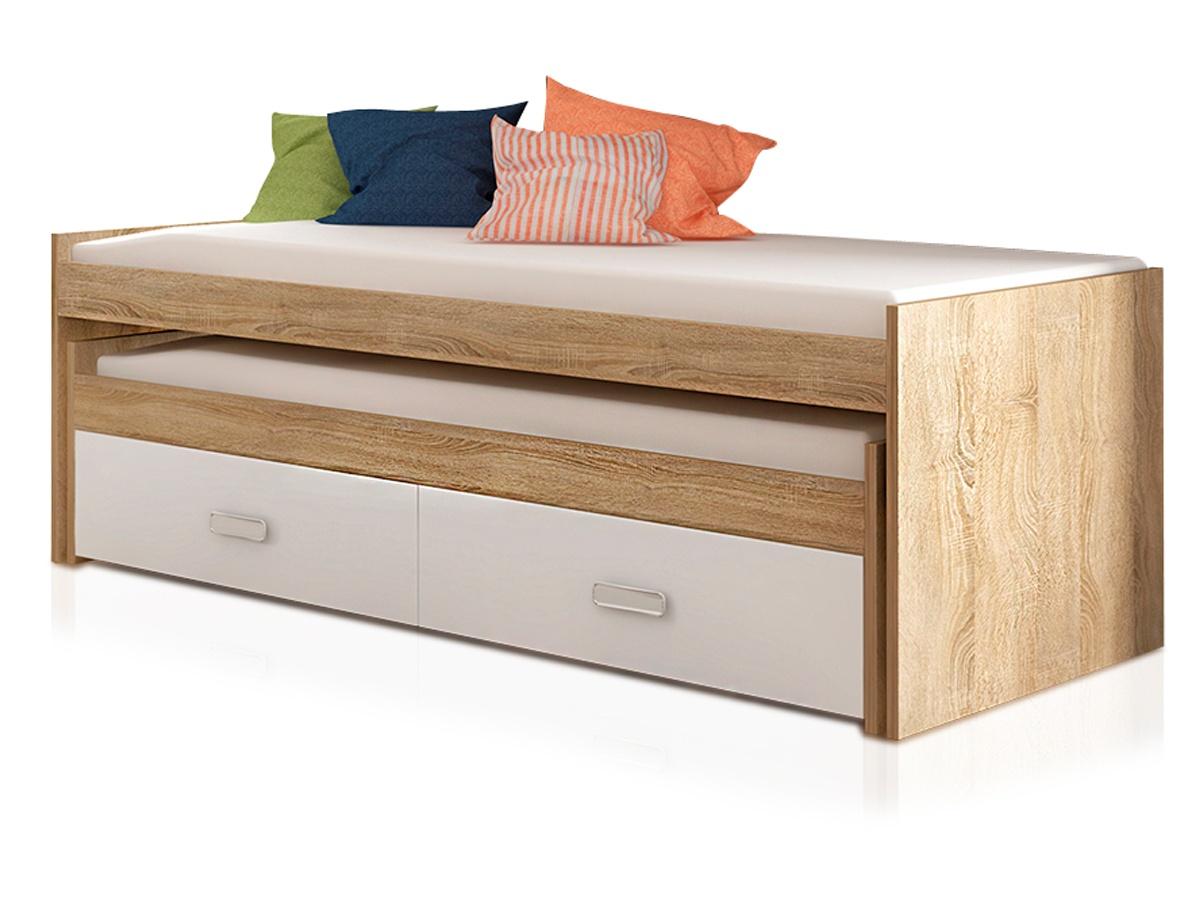 cama doble juvenil con cajones pop