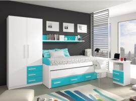 Dormitorio juvenil con arcón zapatero