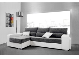 Sofa blanco chaise longue