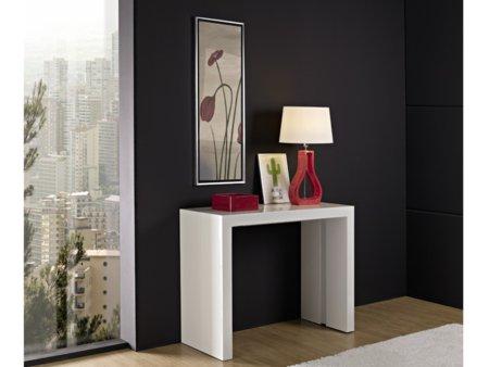 Mesa de comedor extensible consola mueble auxiliar para sal n blanca - Muebles auxiliares comedor ...