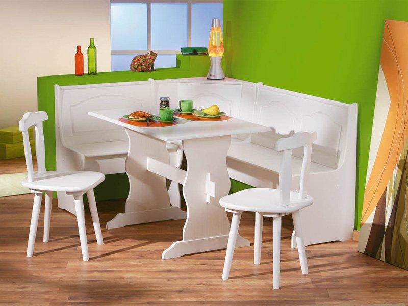 Conjunto de mesa, sillas y banco de madera