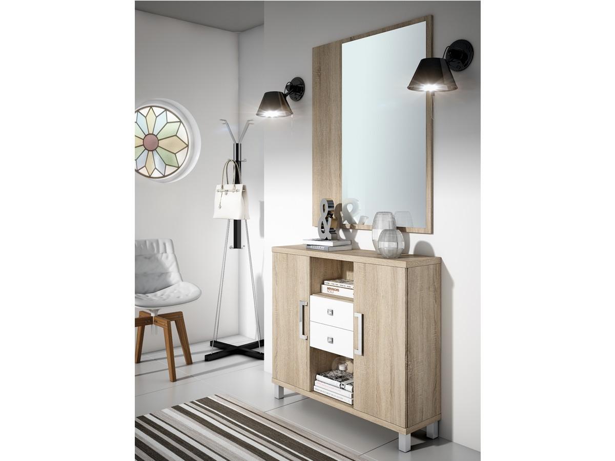 Aparador recibidor en roble - Muebles de recibidor modernos ...