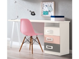 Conjunto mesa de escritorio con pata metalica Star