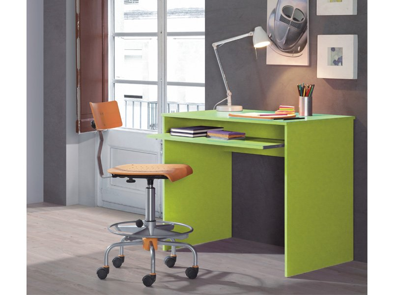Mesa para ordenador modelo basic de dise o con colores vivos for Modelos de oficinas pequenas