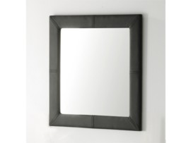Espejo cuadrado tapizado en polipiel