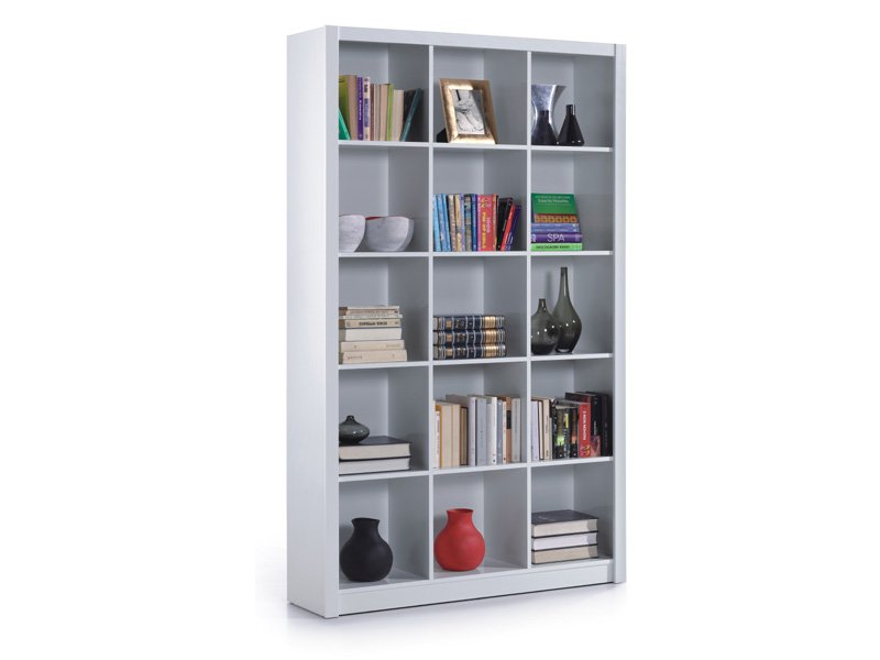 Estanter as mueble librer a blanca mueble sal n blanco for Estanterias de salon modernas