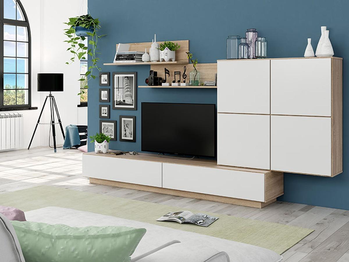 apilable salon blanco y negro, mueble comedor blanco y negro, mueble decoracion salon, mueble decoracion comedor, mueble grande comedor, mueble grande salon, salon moderno blanco, salon apilable mueble blanco