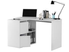Mesa de ordenador multiposición blanca