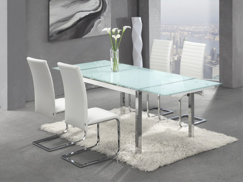 Mesa sal n con extensibles laterales - Mesas salon extensibles ...