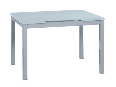 mesa extensible de cristal glaseado transparente para cocina. Black Bedroom Furniture Sets. Home Design Ideas