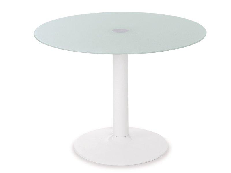 Mesa y sillas de cocina en cristal blanco car interior - Mesa cristal blanco ...