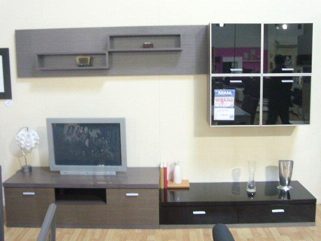 Composición de muebles salón, venta mueble de comedor madera ceniza