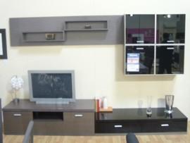 Composición de muebles de salón en ceniza