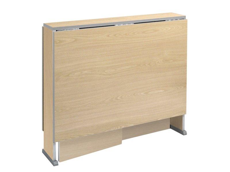 Mesa abatible de madera en aglomerado y de apertura autom tica for Mesa abatible cocina