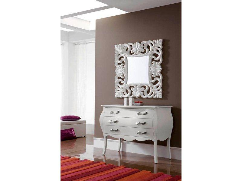 C moda vintage dormitorio en blanco mesa recibidor habitaci n - Que poner encima de una comoda ...
