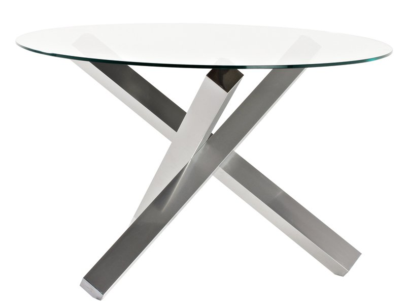 Mesa de dise o para comedor vanguardista con pie de patas for Mesa cristal 4 personas