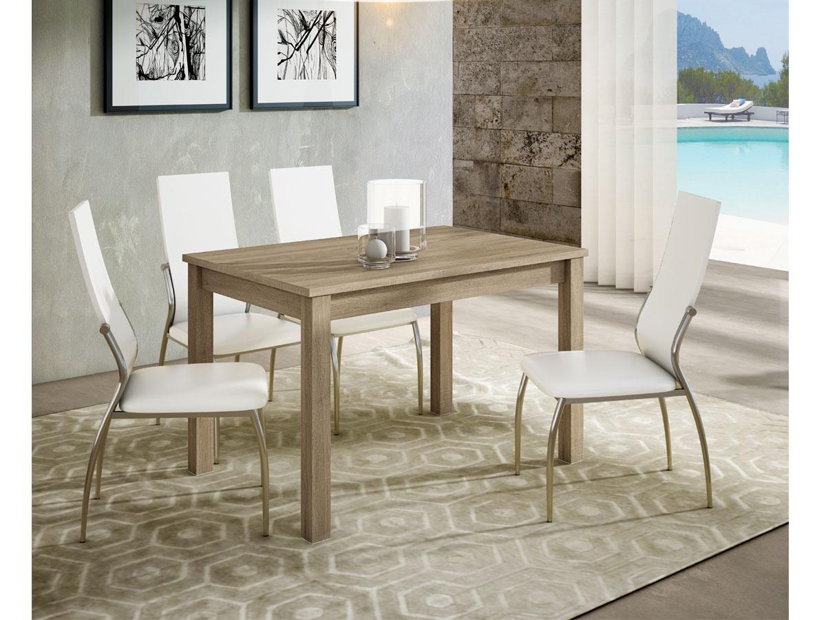 Mesa de comedor extensible lateral con tablero de melamina - Mesa de comedor ...
