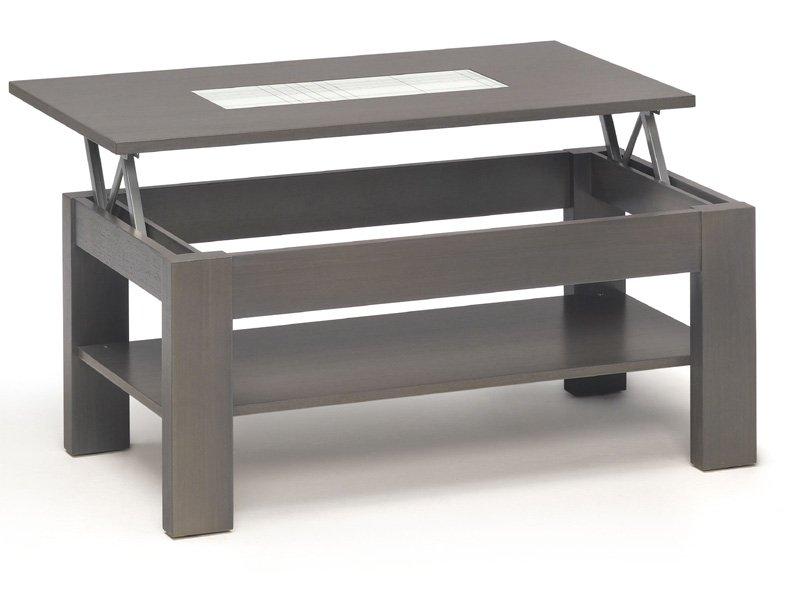 Mesa salón para centro elevable, mesa de cristal personalizable