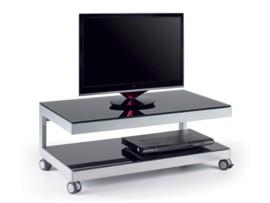 Mesa TV negra y gris
