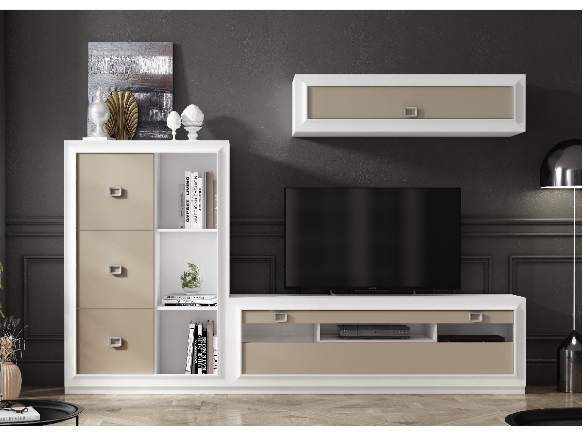 Salón con mueble moderno
